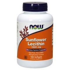 Now Foods Sunflower Lecithin Слънчогледов Лецитин 1200 мг х 100 дражета