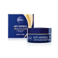 Nivea Anti-Wrinkle Plus Регенериращ нощен крем против бръчки 55+ 50 мл