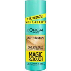 Loreal Magic Retouch Спрей за изрусена коса за прикриване на тъмни корени, Light Blonde 75 мл