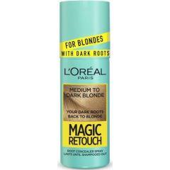 Loreal Magic Retouch Спрей за изрусена коса за прикриване на тъмни корени, Medium to Dark 75 мл