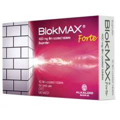 Blokmax Forte с ибупрофен срещу болка и температура 400 мг х10 таблетки Alkaloid