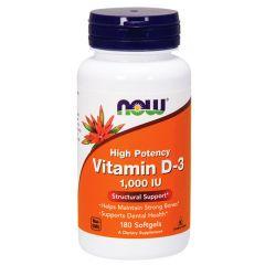 Now Foods Vitamin D-3 Витамин Д-3 10000 IU х 180 дражета