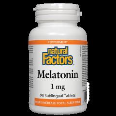 Natural Factors Melatonin Мелатонин при безсъние 1 мг х 90 таблетки