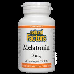 Natural Factors Melatonin Мелатонин при безсъние 3 мг х 90 таблетки