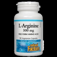 Natural Factors L- Arginine за укрепване на мускулатурата 500 мг х 90 капсули