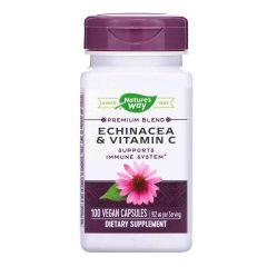 Nature's Way Echinacea/Vitamin C Ехинацея и Витамин C за силен имунитет 461 мг х100 V капсули