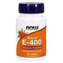 Now Foods Natural E-400 Натурален витамин Е 400 IU х 50 дражета