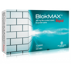 Blokmax Rapid с ибупрофен срещу болка и температура 400 мг х10 таблетки Alkaloid