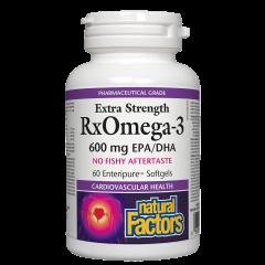 Natural Factors Extra Strength Rx Omega 3 за сърдечно-съдово здраве 1170 мг х 60 софтгел капсули