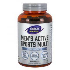 Now Foods Men's Active Sports Multi Мултивитамини за спортуващи мъже х 180 дражета