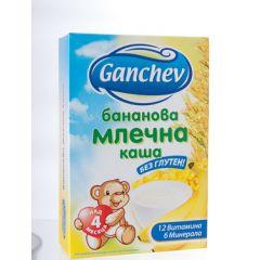 Ganchev Бананова млечна каша без глутен 4М+ 200 гр