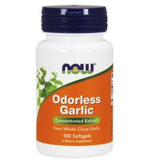 Now Foods Odorless Garlic Чесън без мирис х 100 дражета