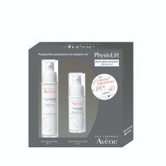 Avene Physiolift Изглаждащ дневен крем за лице за суха кожа 30 мл + Avene Physiolift Крем против бръчки за околоочен контур 15 мл Комплект