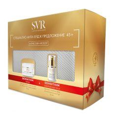 SVR Densitium Крем за лице със стягащ и уплътняващ ефект 45+ 50 мл + SVR Densitium Крем за околоочния контур със стягащ и уплътняващ ефект 45+ 15 мл + Подарък: Несесер Комплект