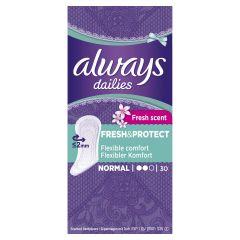 Always Dailies Fresh&Protect Normal Ежедневни дамски превръзки x30 бр