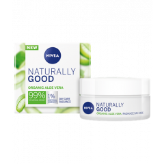 Nivea Naturally Good Хидратиращ дневен крем с органично алое вера 50 мл
