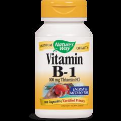 Nature's Way Vitamin B1 Тиамин за нервната система 100 мг х100 капсули