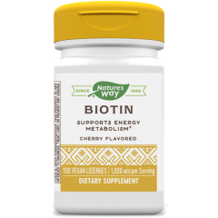 Nature's Way Biotin Биотин за здрави кожа, коса и нокти 1000 мкг х100 капсули
