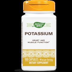 Nature's Way Potassium Калиев комплекс за нормално функциониране на сърдечно-съдовата и мускулна системa 99 мг х100 капсули