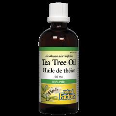 Natural Factors Tea Tree Oil Huile de theier Масло от чаено дърво - антибактериални и противогъбични свойства 50 мл