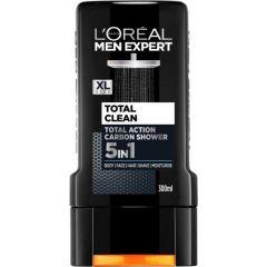 Loreal Men Expert Total Clean 5in1 Енергизиращ мъжки душ гел 5 в 1  300 мл