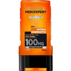 Loreal Men Expert Hydra Energetic Енергизиращ мъжки душ гел с дървесен аромат 300 мл