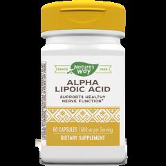 Nature's Way Alpha-Lipoic Acid Алфа-липоева киселина за контрол върху нивата на кръвната захар 200 мг х60 капсули