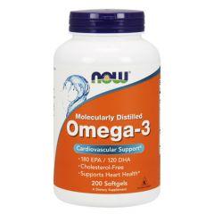 Now Foods Omega-3 Омега-3 Рибено масло х 200 дражета