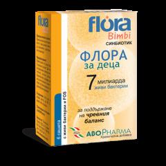 AboPharma Flora Bimbi 7 Синбиотик за деца за поддържане на чревния баланс х6 сашета