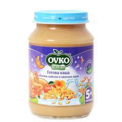Ovko Десерт млечна каша ябълки, кайсии, овесени ядки 5М+ 190 гр