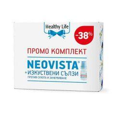 Healthy Life Neovista формула за здрави очи х60 + Оптавид капки за очи (изкуствени сълзи) 10мл промо комплект
