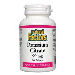 Natural Factors Potassium Citrate Калий 99 мг х 90 таблетки
