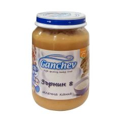 Ganchev Млечна каша Зърнин 8 6М+ 190 гр