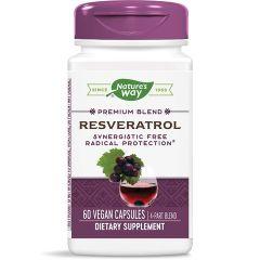 Nature's Way Resveratrol Forte Ресвератрол форте за антиоксидантна защита 325 мг х60 V капсули