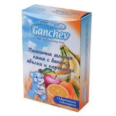 Ganchev Пшенична млечна каша с банан, ябълка и портокал 6М+ 200 гр