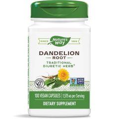 Nature's Way Dandelion Root Гухарче (корен) при проблеми с черния дроб и жлъчката 525 мг х100 V капсули