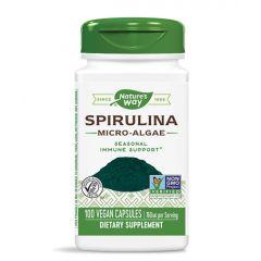 Nature's Way Spirulina Micro Algae при слаб имунитет и умора 380 мг х100 капсули