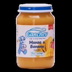 Ganchev Пюре манго и банани, без захар 4М+ 190 гр