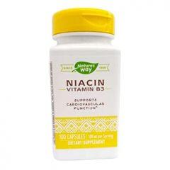Nature's Way Niacin Vitamin B3 Витамин B3 при високи нива на холестерола и триглицеридите 100 мг х100 капсули