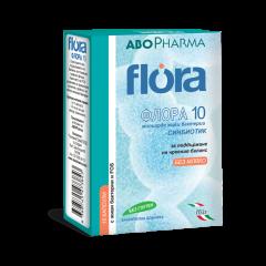 AboPharma Flora Пробиотик с 10 млрд живи бактерии х15 капсули