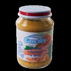 Ganchev Пюре сьомга с броколи и ориз 8М+ 190 гр