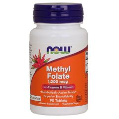Now Foods Methyl Folate Метилфолат 1000 мкг х 90 таблетки
