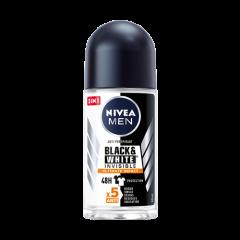 NiveaMen Black & White Invisible Ultimate Impact Дезодорант рол-он против изпотяване за мъже  50 мл