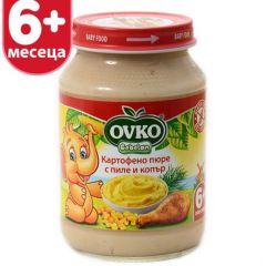 Ovko Bebelan Картофено пюре с пиле и копър 6М+ 190 гр