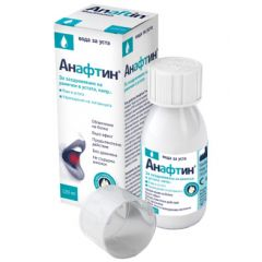 Анафтин Вода за уста За заздравяване на ранички в устата 3% 120 мл Berlin-Chemie