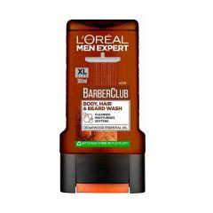 L'Oreal Men Expert Barber Club Мъжки душ-гел за тяло, коса и брада 300 мл