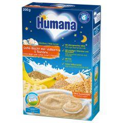 """Humana млечна каша пълнозърнеста """"Лека нощ"""" с банан 6М +200 гр"""