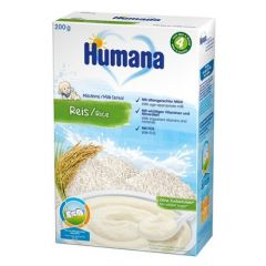 Humana млечна каша с ориз 4М+ 200 гр