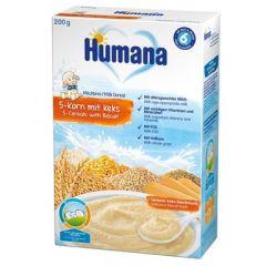 Humana млечна каша 5 зърна с бисквита 6М+ 200 гр