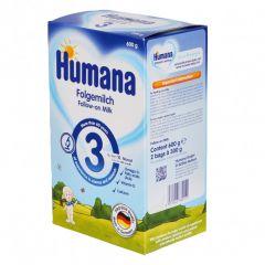 Humana 3 преходно мляко 10М+ 600 гр
